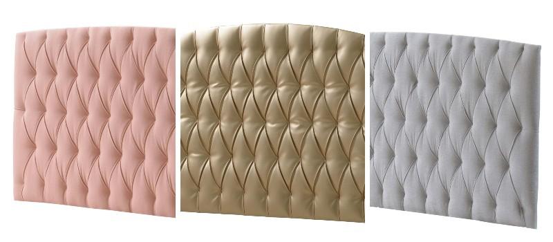 Upholstered diamond tufted headboard panels