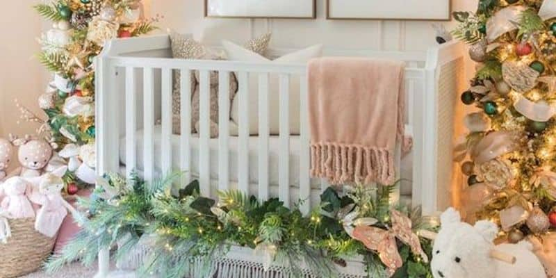 winter decoration nursery crib